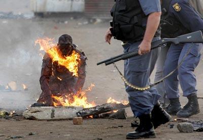 Mozambiquen burnt to death
